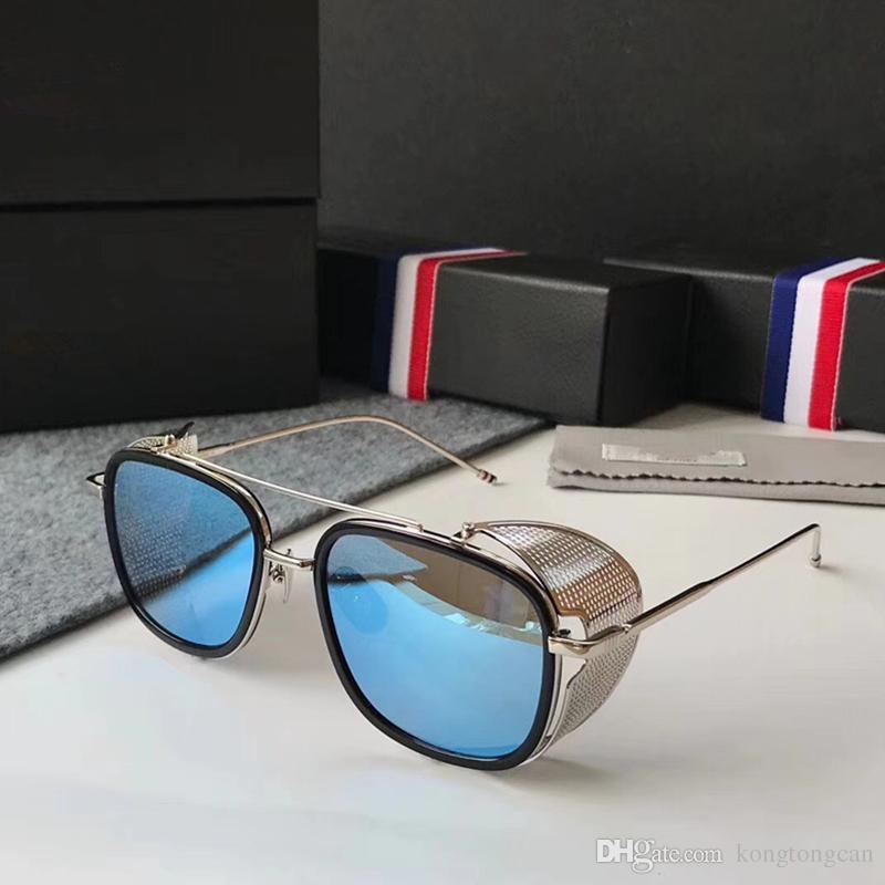 3fe7de7189c4 Vintage Fashion Sunglasses Thom Browne TB 805 Women Man Brand Design Suqare  Original Box And Case Polarized Lens Top Quality Baby Sunglasses Designer  ...