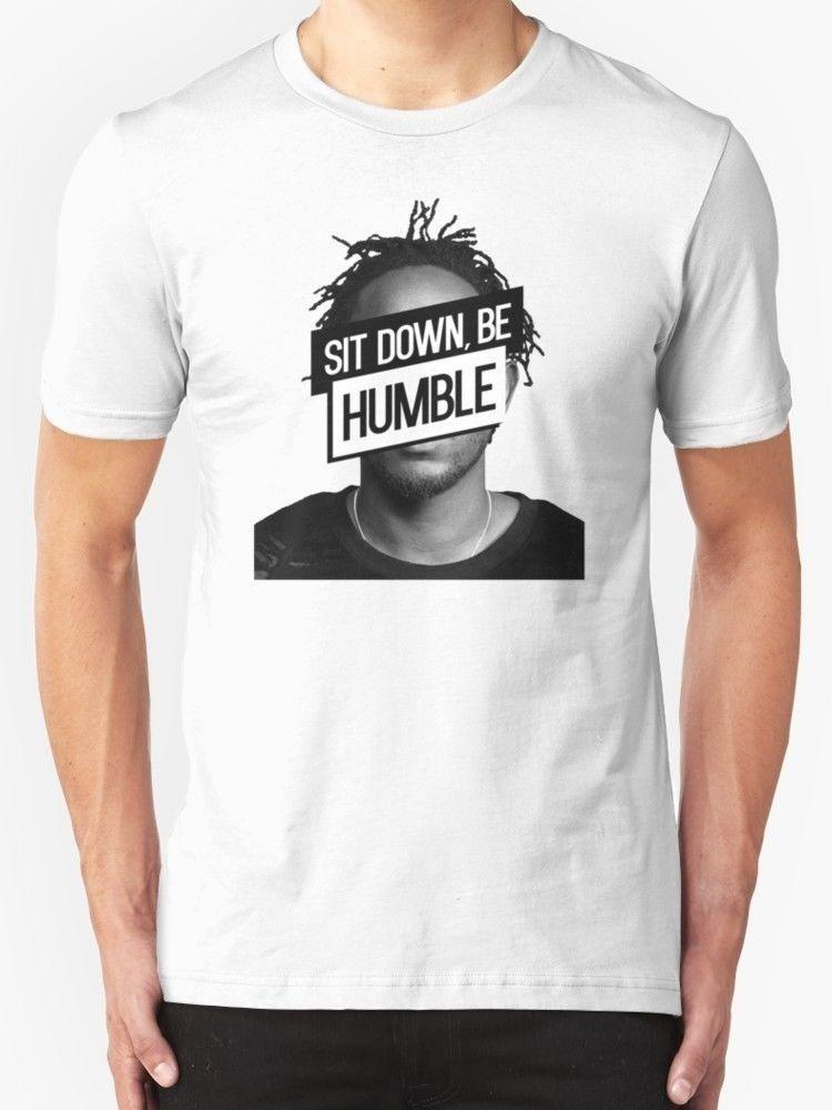 New Summer Style Crew Neck Short-Sleeve Tall New Men's Kendrick Lamar Sit Down Be Humble White Tee T-Shirt T Shirt For Men