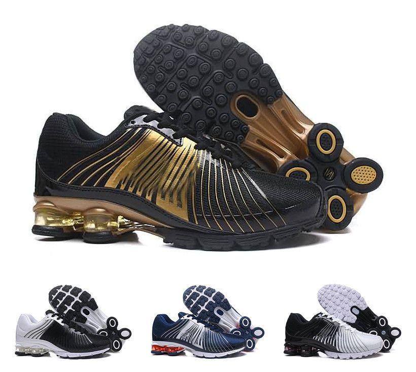 purchase cheap bfe62 888ab Acheter Nouveau Nike Shox Hommes Femmes Chaussures De Course Drop Shipping  Shox DELIVER OZ NZ Hommes Sport Baskets Sport Entraîneurs Chaussures Taille  36 40 ...