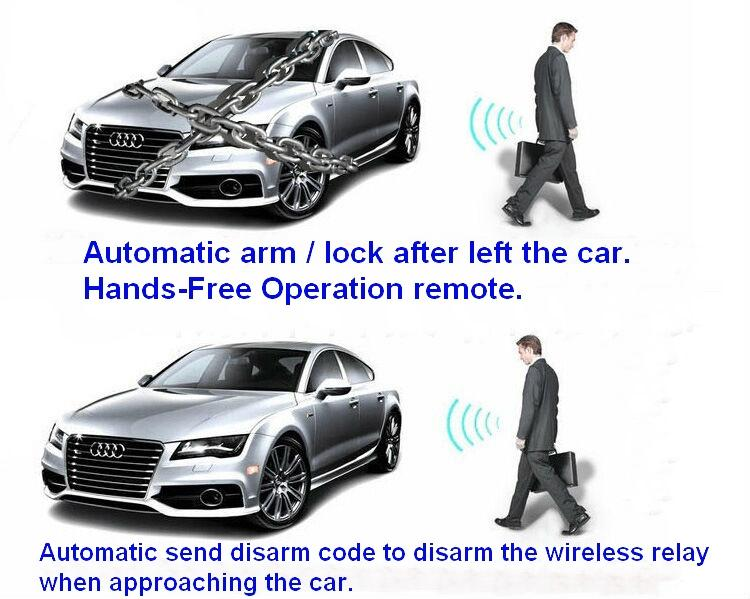 Automatic disarm unlock Proximity Immobilizer car alarm fuel pump cricuit  cut-off RFID immobilizer anti-theft device