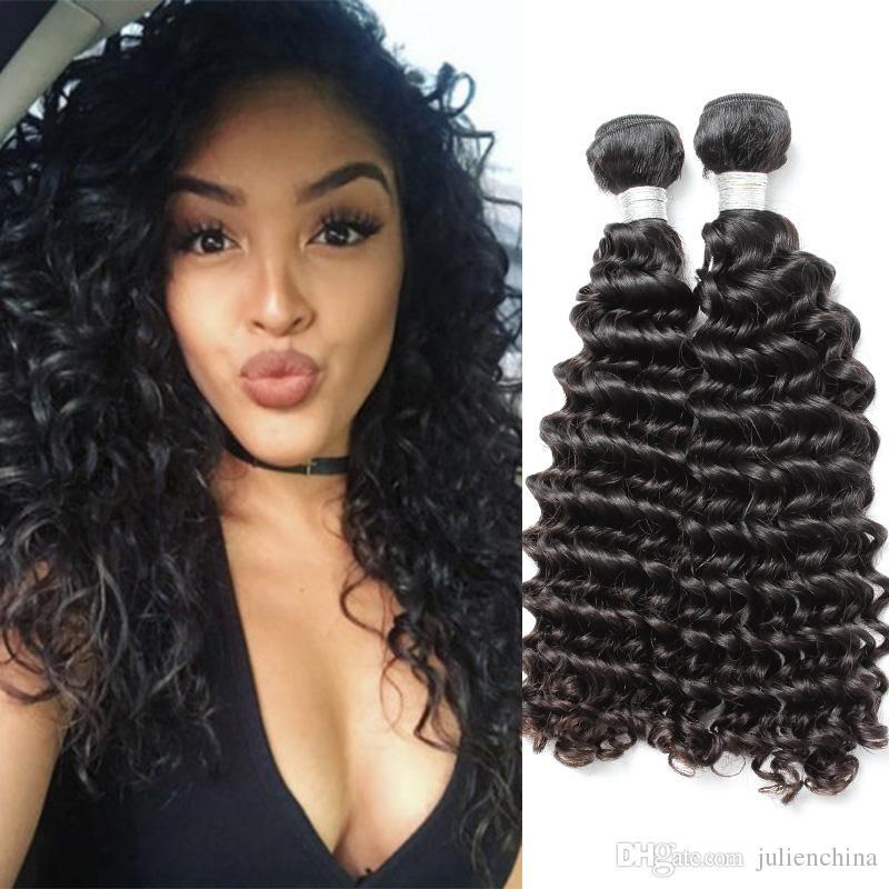 Brand Original Hair 9a Deep Wave Human Hair Bundles 10 24