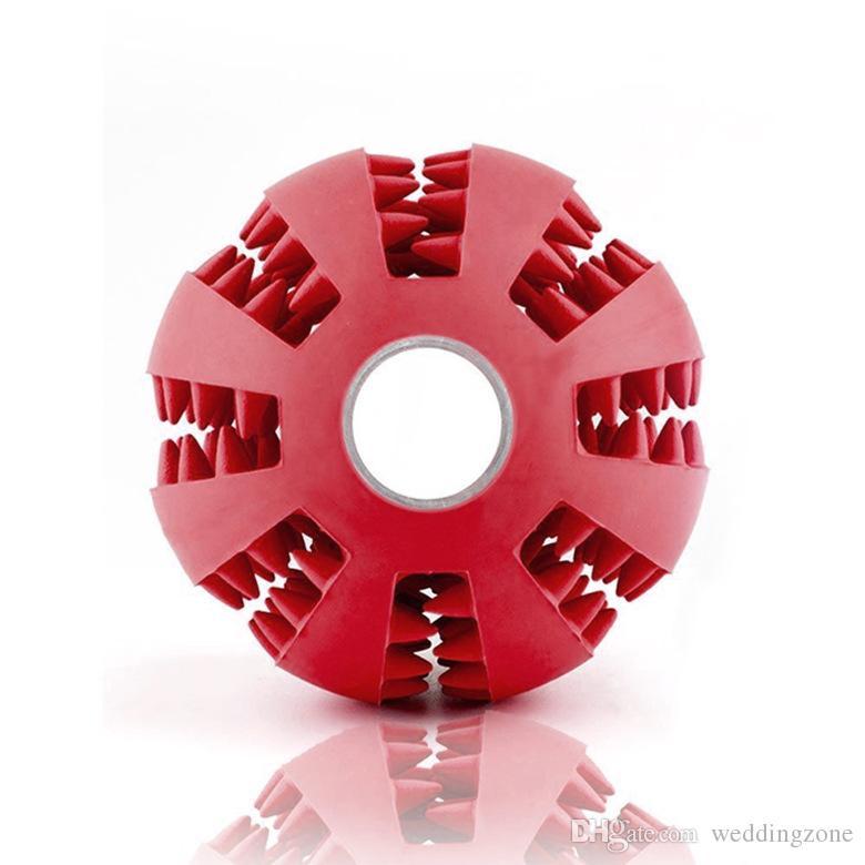 Здоровые зубы очистки мяч еда лечить диспенсер Pet натуральный каучук стоматологическая лечить устные игрушки жевательные игрушки для собак здравоохранения