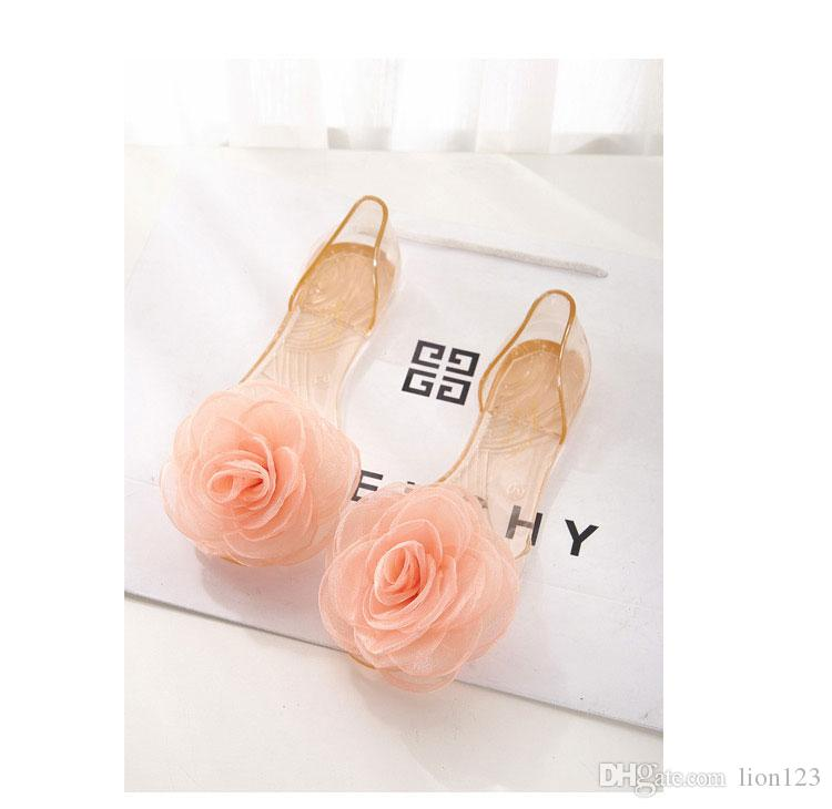 Summer transparent resin crystal sandals bow bling transparent jelly shoes open toe female sandals