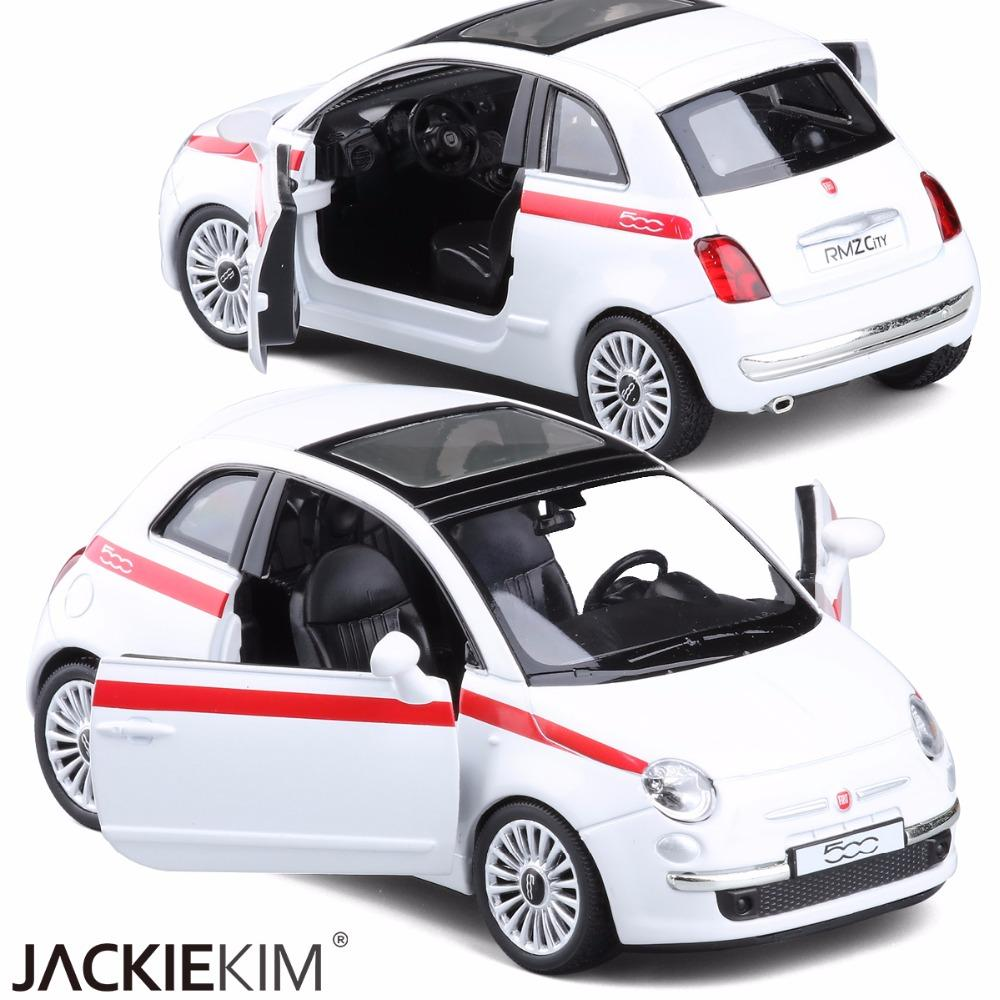 2019 Rmz City 1 28 Fiat 500 Alloy Diecast Model Metal Car Toys For