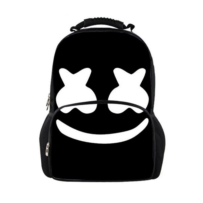 Cute Marshmello School Bag Printed Casual Female Travel Backpack Women  Large Teenage Girls Boys School Backpacks Women Backpack Waterproof Backpack  Kids ... 44ce32b94f