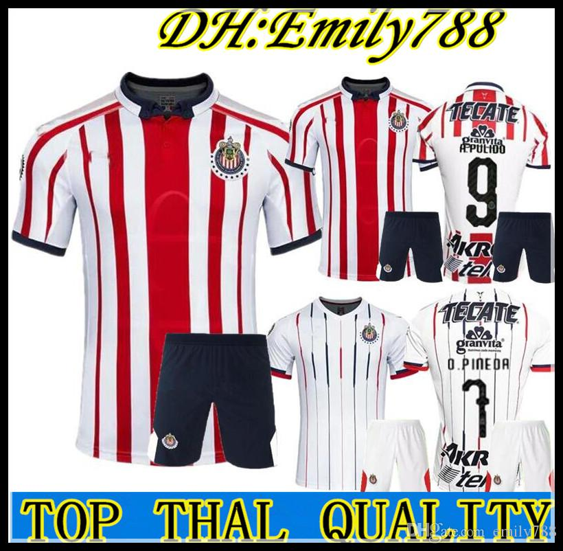 6cc02d0a8 Men s kit 18 19 MEXICO Club Classic Chivas de Guadalajara Home Away Soccer  Jersey kit 2018 A.PULIDO Camiseta de Futbol Football Shirts