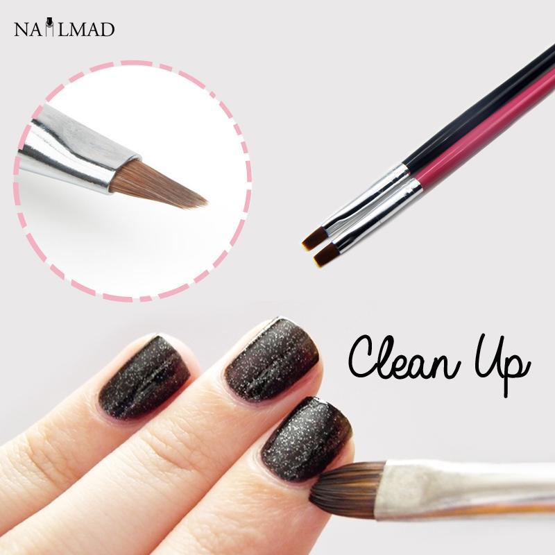 Clean Up Brush Nail Art Flat Brush Cuticle Clean Up Acrylic Nail ...