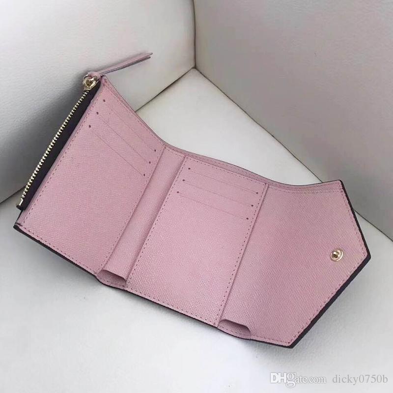2018 Gros Lady Hot Multicolor Nouveau Porte-Monnaie court Portefeuille Porte-Cartes Coloré Original Box Femmes Classique Zipper Poche Date Code