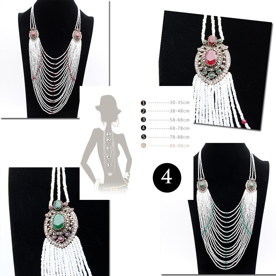 Модные свитер цепи ожерелье длинный белый бисером ожерелье турецких женщин цветок смолы ожерелье из бисера Марка свадебные мода ювелирные изделия