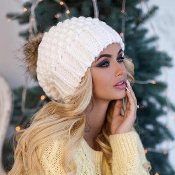 Großhandel Geflochtene Häkeln Wolle Stricken Beanie Ski Ball Cap