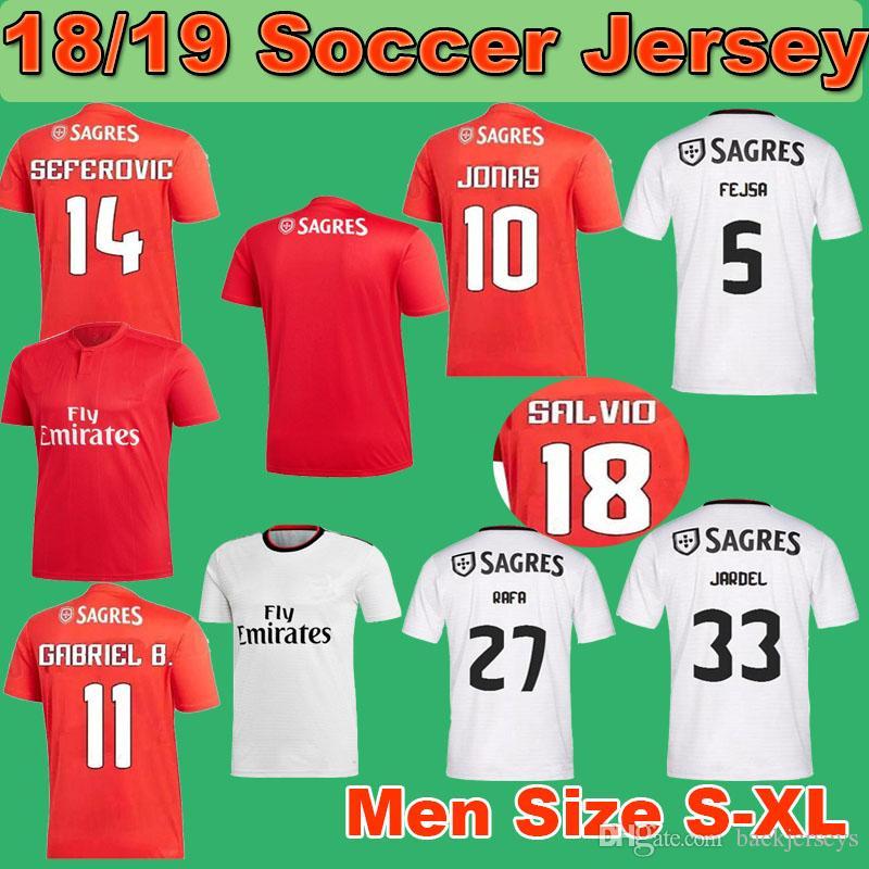 Acquista 18 19 Benfica Soccer Jersey 2018 2019 S.L. Maglia Da Calcio Benfica  JONAS Men Home Away 18 19 Kit Da Calcio SEFEROVIC SALVIO A  16.3 Dal ... 26fba99bc