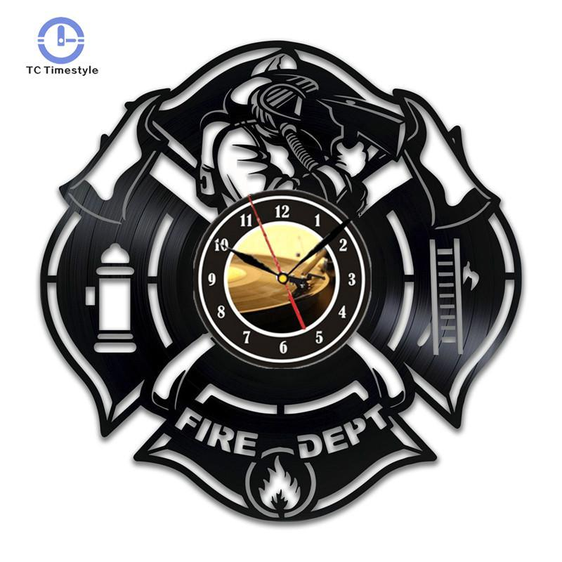 fire fighter in training room decor sign black fireman firetruck