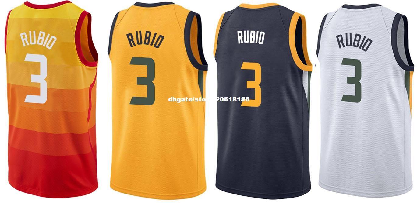 half off a3b61 43e28 mens ricky rubio 3 utah jazz yellow jersey