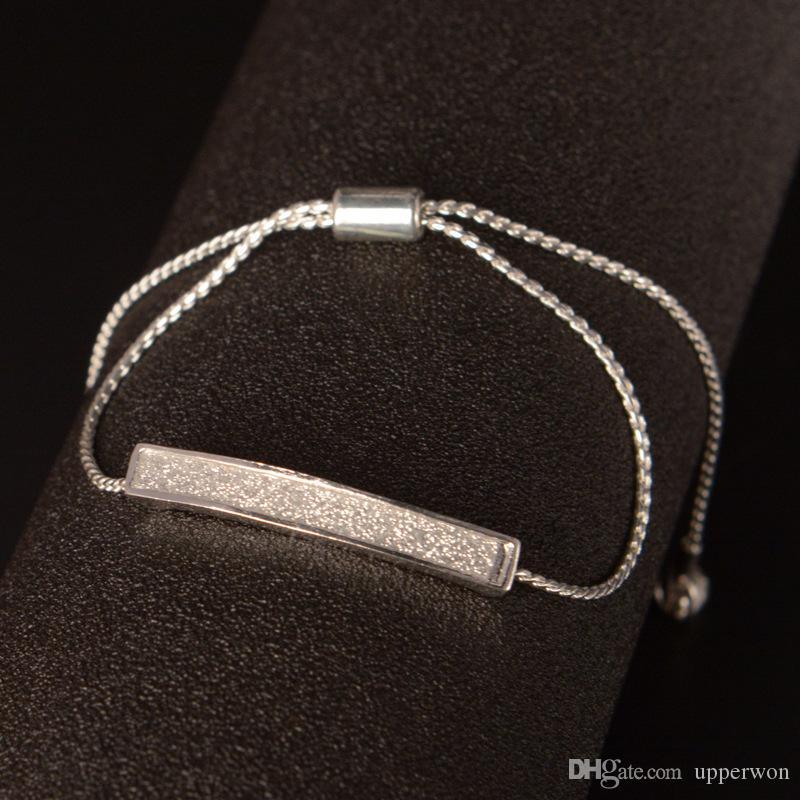 2017 Il nuovo modo lucido CZ femminile Striscia di disegno dell'argento BraceletBangle di colore le donne festa di nozze