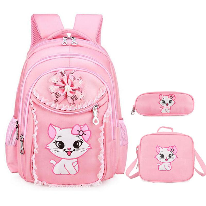 Sweet Cat Girl s School Bags Cartoon Pattern Waterproof Kid Backpack  Children School Backpack Girl Bag Primary Bookbag Shoulder Bags Bags For  Girls From ... 64b2c13db1195