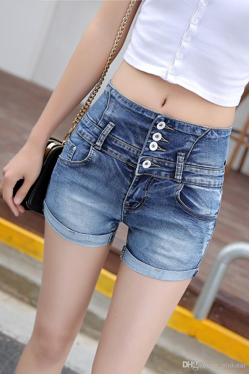 2019 Womens Sexy Jeans Denim Shorts 2018 Summer Fashion Cotton Shorts  Ladies Skinny Low Waist Short Pants Jeans Girls From Pinkstar 04083bded8d