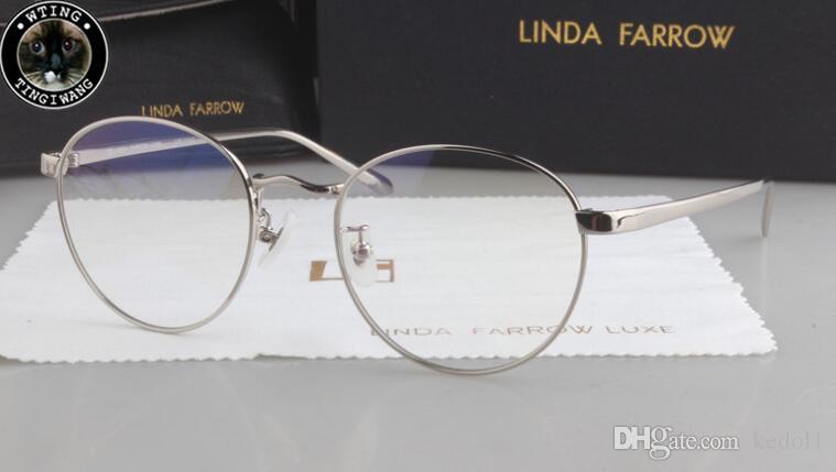 7431539496e19 Compre Marca Linda Farrow Homens Redondos Artesanais Coreano Armações De  Óculos Homem Óculos Óculos Prescrição Óptica Com Caixa Original De Kedol1,  ...