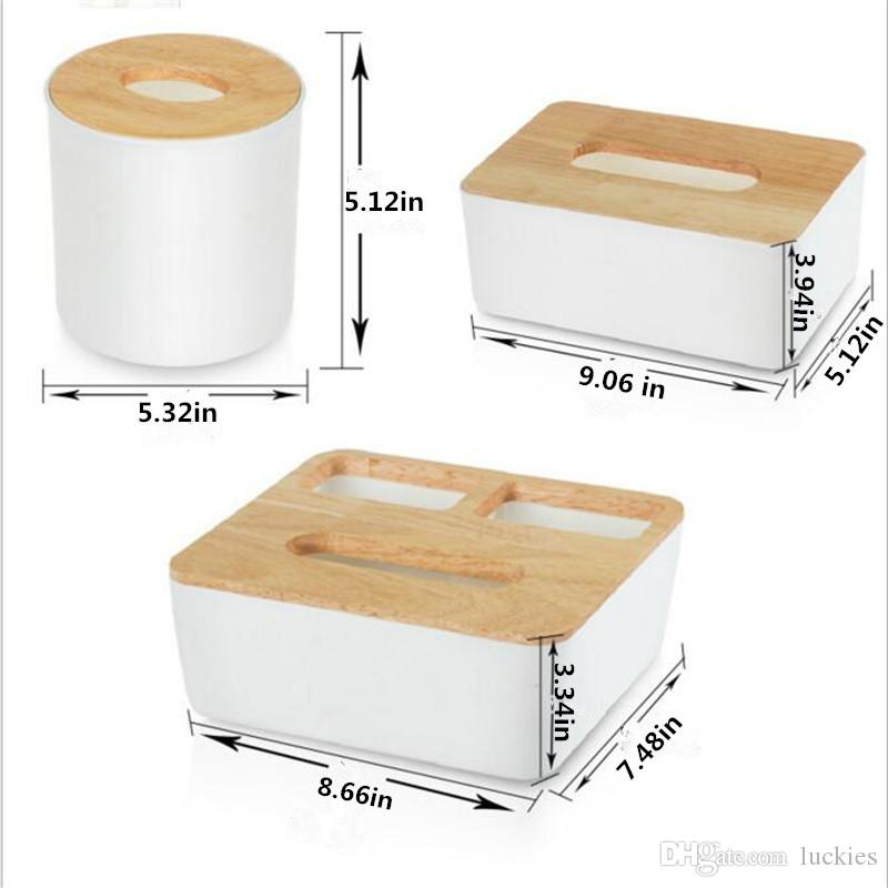 Holz + Kunststoff Tissue Box Massivholz Serviette Fall Home Office Auto Container Veranstalter Dekoration Für Abnehmbare