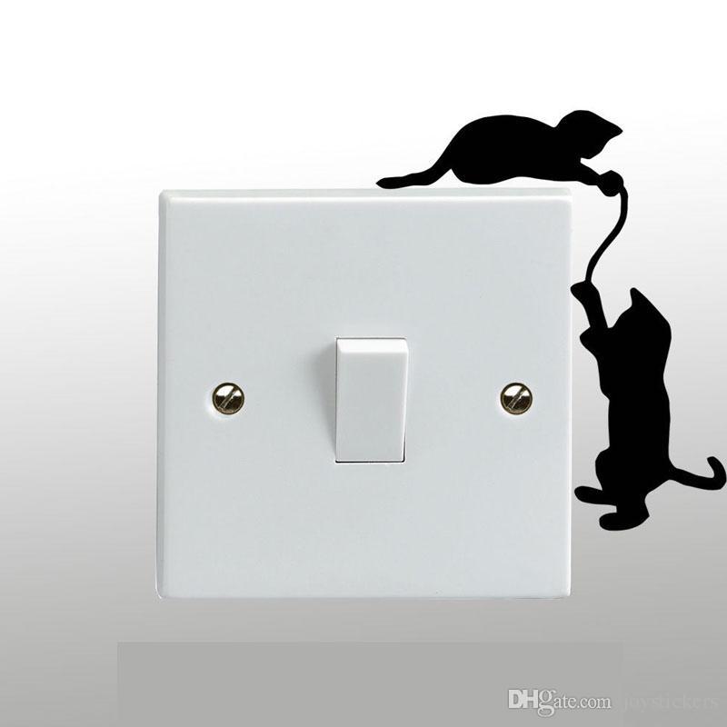 Cats Playing On A Light Switch Light Side Dark Side Freddie Mercury Michael Jackson Wall Sticker Vinyl Art Decal Any Room Decor