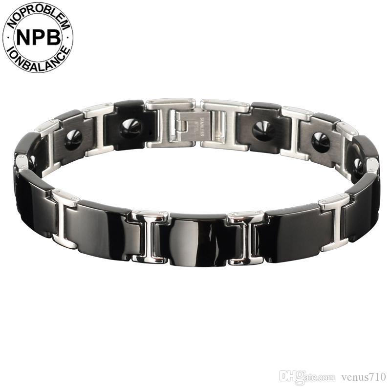 Noproblem Ion antifatigue Power Choker Einhorn Bio-Metall 99,99% reine Germanium Pulver Perlen Herrenarmbänder