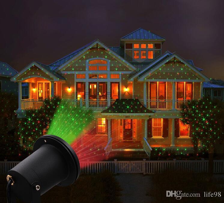 Laser Christmas Lights.2019 Landscape Lights Laser Christmas Light Holiday Decoration Star Projector Home Cube Outdoor Star Laser Light Solar Garden Lights Tree Lights From