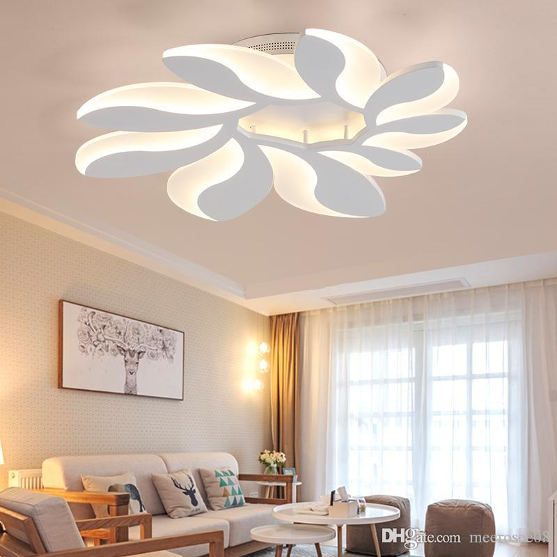 New Design Modern Led Ceiling Lights Flower Shape Remote