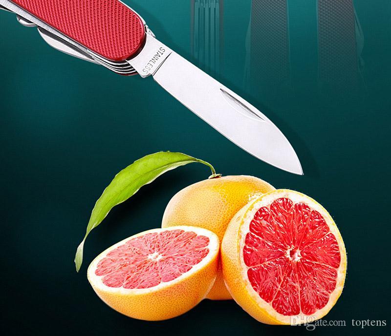 Çok fonksiyonlu alüminyum katlanır hediye bıçak İsviçre hediye Sabre 11 fonksiyon Sabre