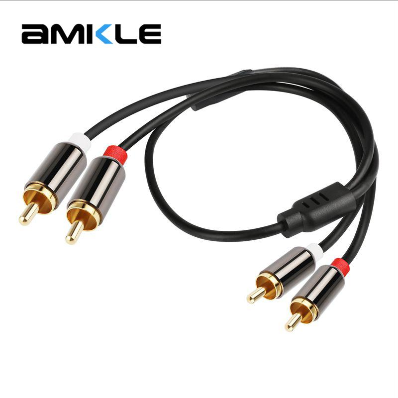 Amkle Rca To Rca Male To Male Audio Cable Gold Plated Audio Cable ...