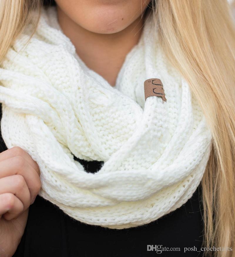 Großhandel Cc Schal Cable Knitted Cc Label Schals Für Jugendliche ...