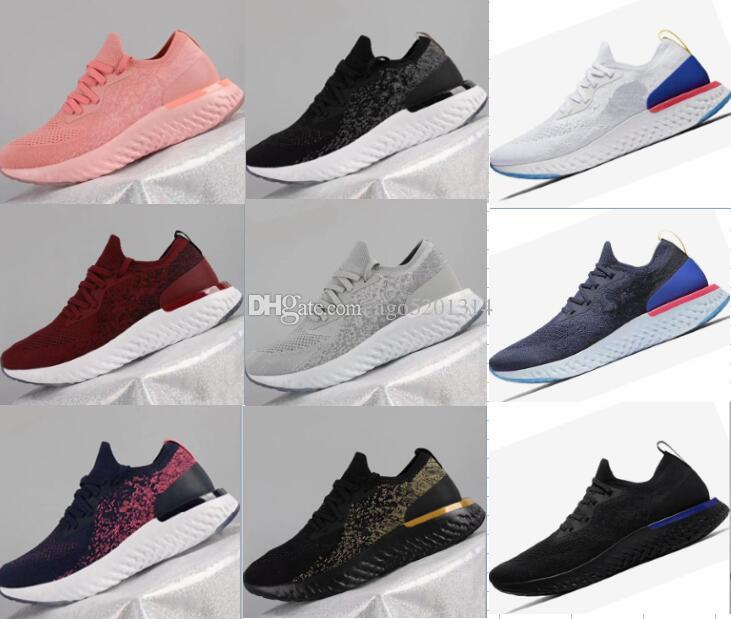 wiki online With Box New Boost Epic React Knitting Casual Shoes High Elastic Boost Men and Women Casual Sneakers latest collections online visit new DzbTeo