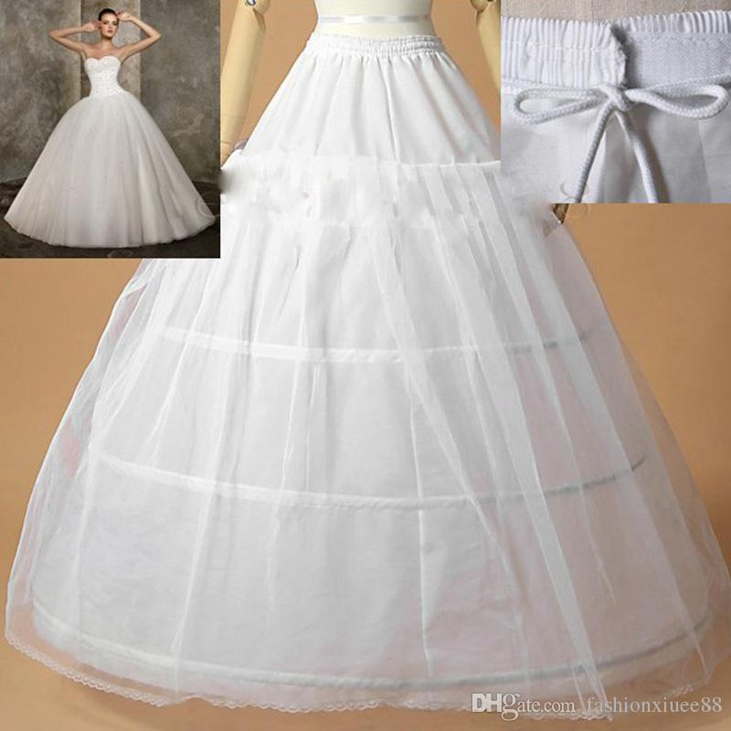 Hot Sale Bridal Accessories Evening Prom Gown Bride 1 layer Underskirt Petticoat Wedding Dress Accessories 2018