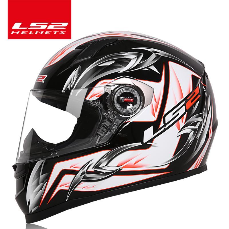 Compre 100% Genuino LS2 FF358 Casco De La Motocicleta Cara Completa Casco  LS2 Hombre Mujer Racing Cascos De Moto Casque Casco Moto ECE Certificación  A ... fc4f9331b96