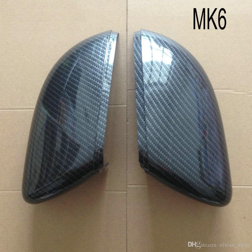 골프 용 MK6 R20 사이드 윙 미러 커버 적합 폭스 바겐 MK7 7 GTI 6 Scirocco Caps Carbon Pattern 2009 2010 2011 2012