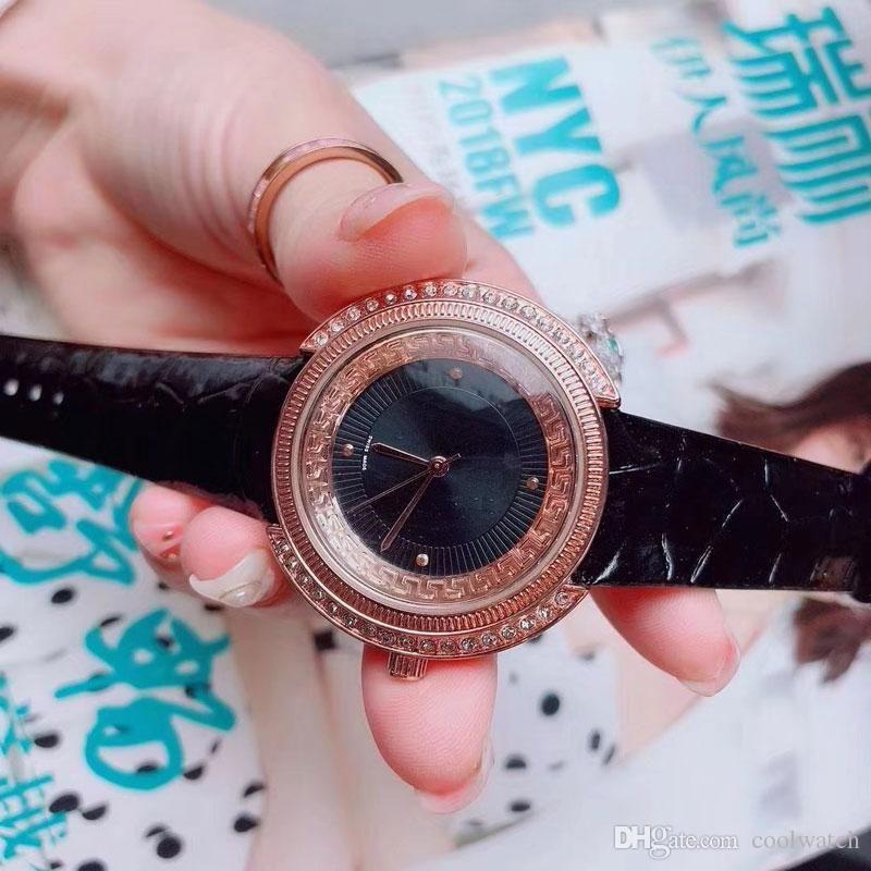 Cheap casual Women Watches Luxury Designer Quartz Wristwatch Rhinestone Leather strap female Watch for Ladies best gift relojes mujer
