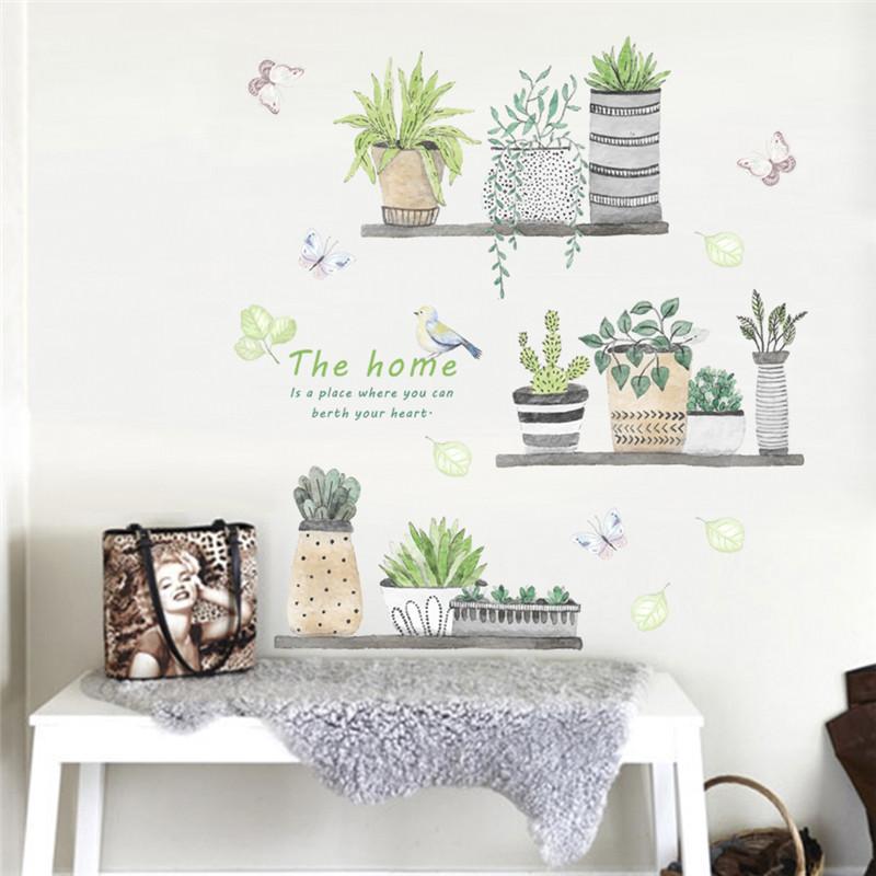 Großhandel Dekoration Poster Aufkleber 3d Garten Pflanze Blume