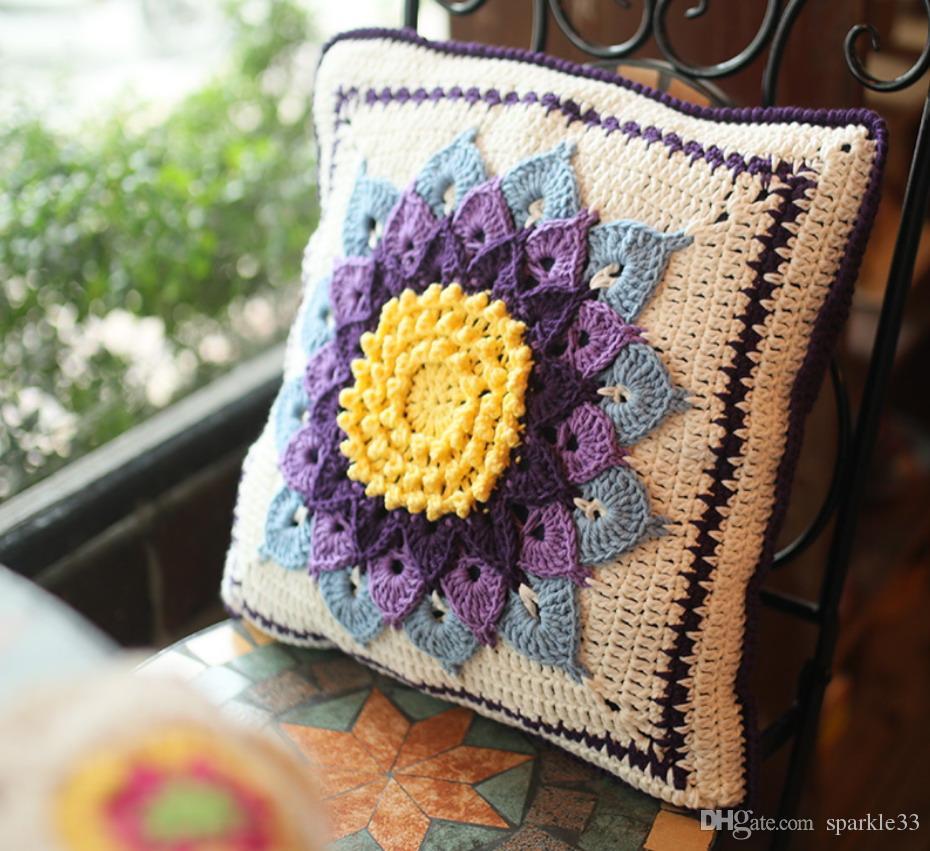 Cuscino posteriore del sofà della parte posteriore del retro del cuscino Handmade Handmade dell'ornamento del giardino di DIY Cuscino Girdle Wedding del cuscino della decorazione di Gfit del puntello 40cm