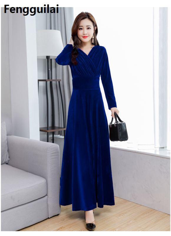 huge selection of bc270 3f699 Velluto Abbigliamento Size Elegante Vintage Donna Caldo ...