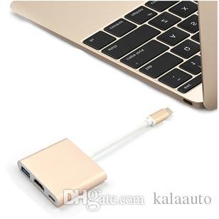 USB 3.1 허브 USB-C to USB 3.0 / HDMI / C 타입 Mac 용 여성용 충전기 포트 OTG 어댑터