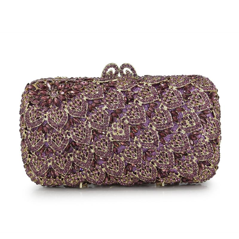 c7f6838f3718d Purple Crystal Evening Bag With Chain Women Handbags Party Purse Purple  Bride Wedding Clutch Bags88234 PG Handbags Sale Big Handbags From  Paradise12, ...