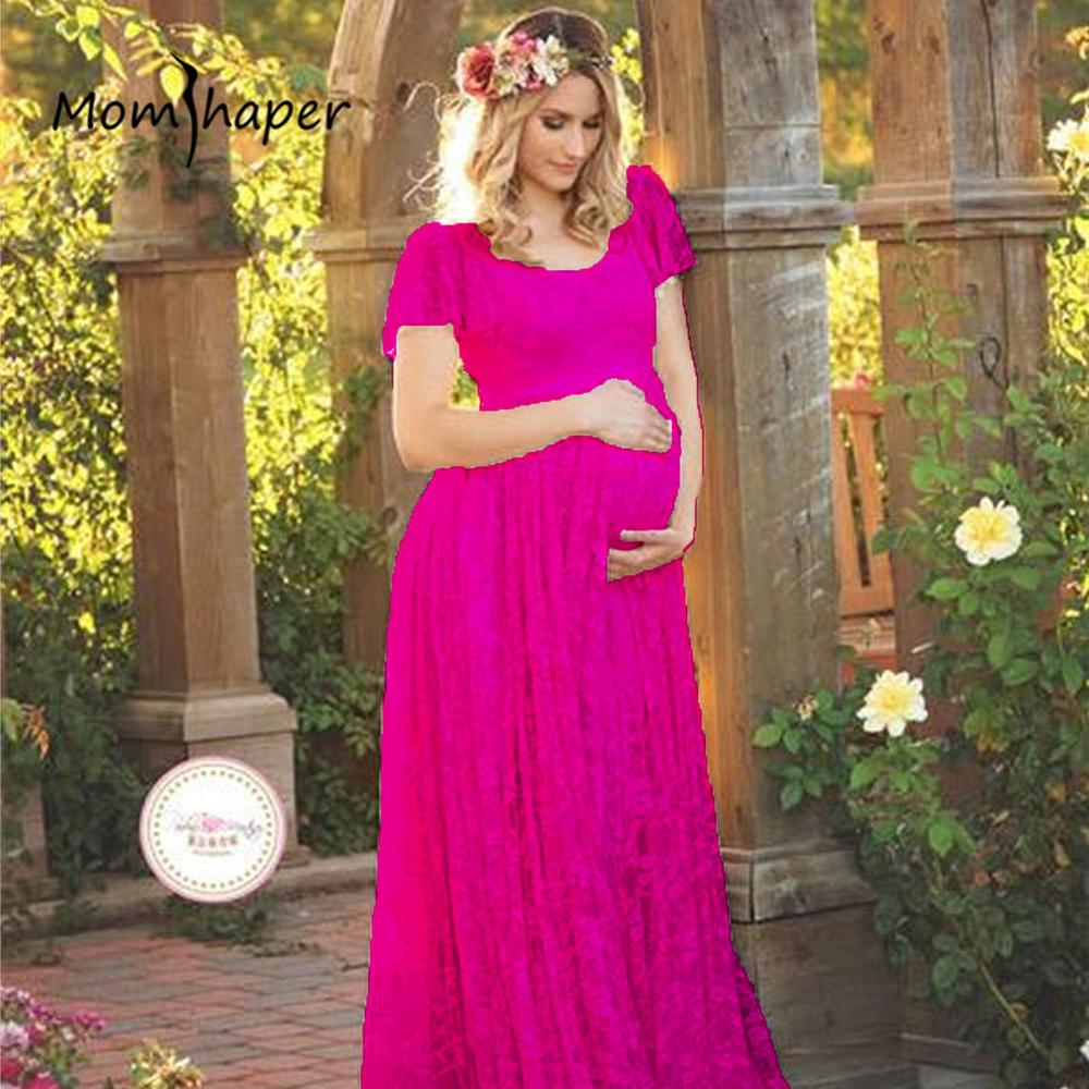 36d0ac3d5d0ba 2019 Maternity Clothes Women Dresses Casual Dress Pregnant Lace Elegant  Long Dress Party Frill Short Sleeve Summer 2018 New From Vanilla14, $32.82  | DHgate.
