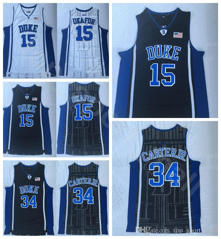 7b252c870b1 2019 Duke Blue Devils 15 Jahlil Okafor Jersey Men College Basketball  Wendell Carter Jr Jerseys 34 Home Blue Away White Black High Quality From  ...