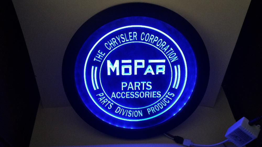 Chrysler Mopar Parts RGB led Multi Color the wireless control beer bar pub  club neon light sign Special gift