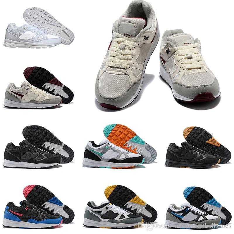 c117c14bb9f3 Man Designer Running Shoes Sneakers Span II Ultra Shoes Black White ...