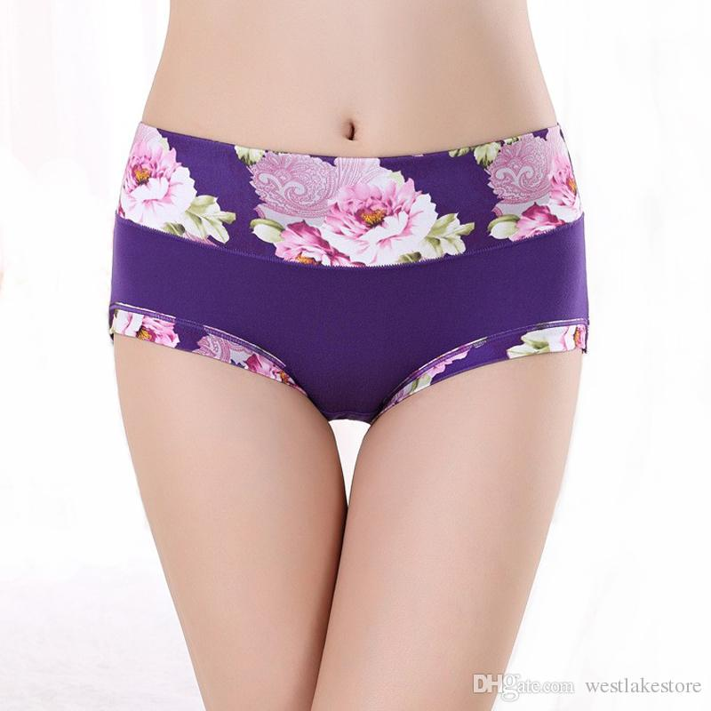Women Underwear Panties Ladies Seamless Sexy Briefs Floral Print Lingerie Calcinhas Intimates Underpants