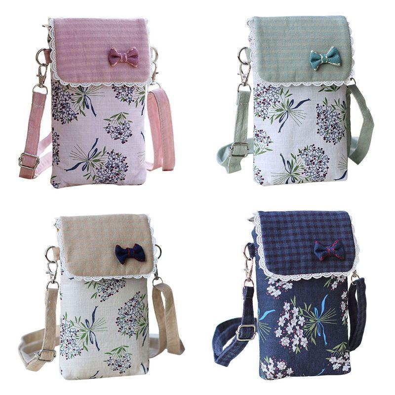 33b0b5e024 Fashion New Women Mobile Phone Shoulder Bag Crossbody Pouch Case Girls  Small Casual Multifunction Bowknot Belt Handbag Purse Satchel Laptop Bags  From Misix