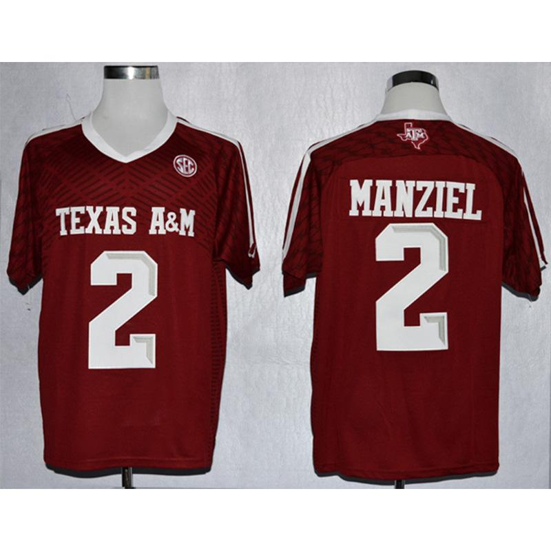 new product 2729a 965a9 Mens Texas A&M Aggie Johnny Manziel Stitched Name&Number American College  Football Jersey Size S-3XL