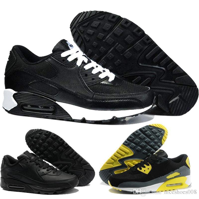 sale retailer f3b40 84301 Nike Air Max Airmax 90 2018 Nuevos Zapatos Sneaker Classic 90 Zapatos  Casuales De Hombre Y Mujer Negro Army Green Entrenador Deportivo Cojín De  Malla ...