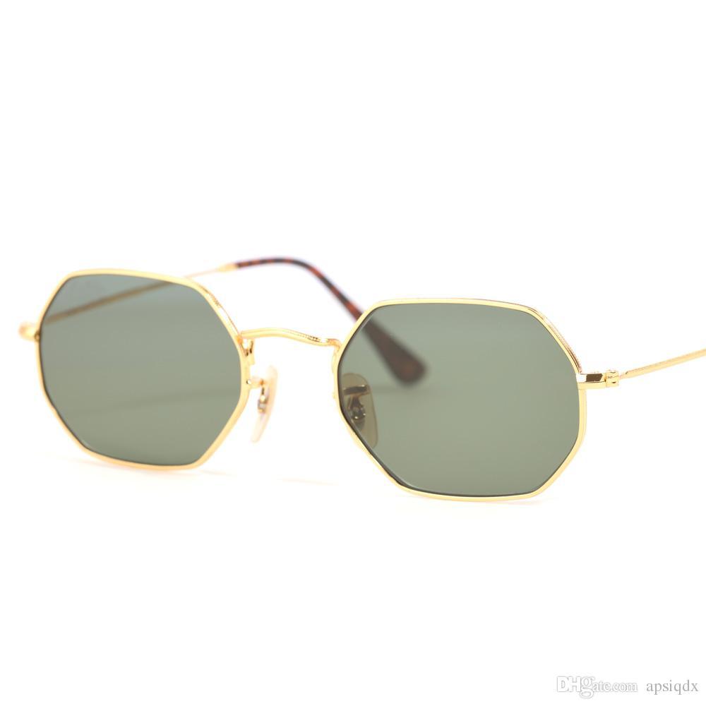 Compre Excelente Qualidade Octogonal 3556 Óculos De Sol Para Mulheres Dos  Homens Da Marca Designer De Armação De Metal Óculos De Sol Lentes De Vidro  53 MM ... 6512366ece