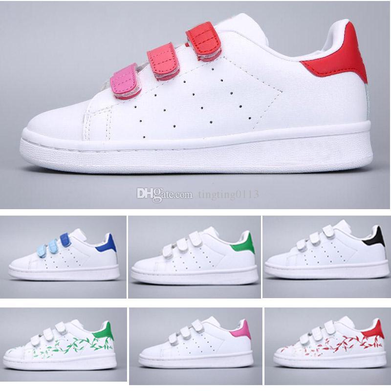 7c3160377e0b0 Acheter 2018 Adidas Stan Smith Superstar Chaussures Enfants Superstar  Original Blanc Or Bébé Enfants Superstars Sneakers Originals Super Star  Filles Garçons ...