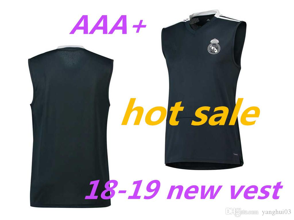 buy online fe684 b7da4 18 19 real madrid sleeveless soccer shirts football training vest 2018 2019  Top Quality NAVAS ASEN soccer sleeveless soccer jersey